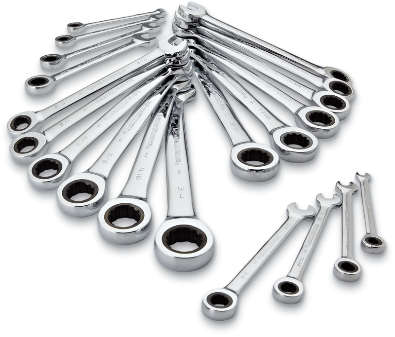 GearWrench 20-pc. ratcheting wrench set, inch and metric sizes