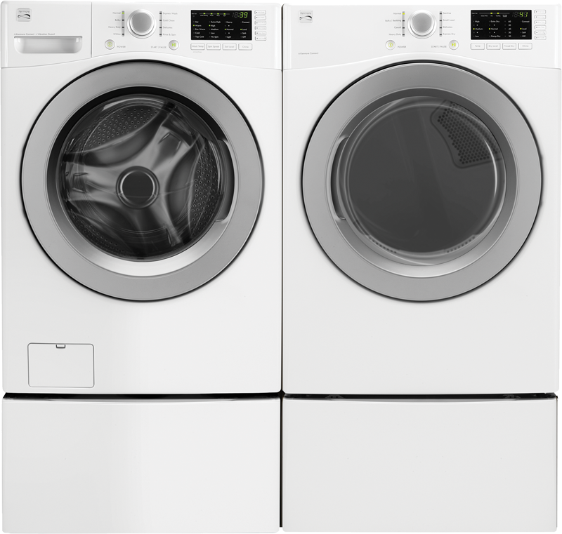 Kenmore 4.5 cu. ft. front load high efficiency washer and 7.3 cu. ft. electric dryer with sensor dry