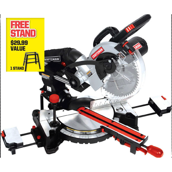 Craftsman 10-in. sliding compound miter saw with Laser Trac®