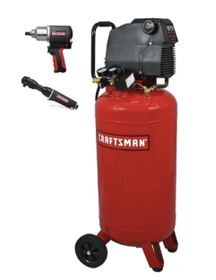 Craftsman 26-gal. air compressor with impact wrench and ratchet